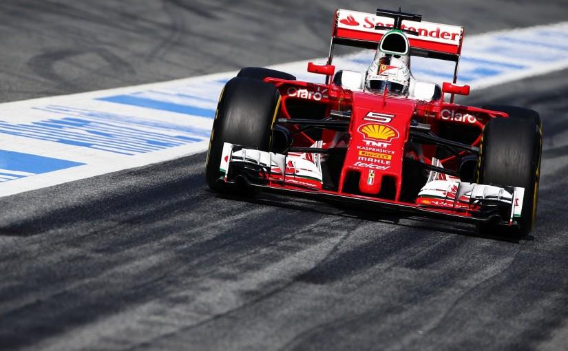 2016年第2回F1合同テスト セバスチャン・ベッテル(フェラーリ)