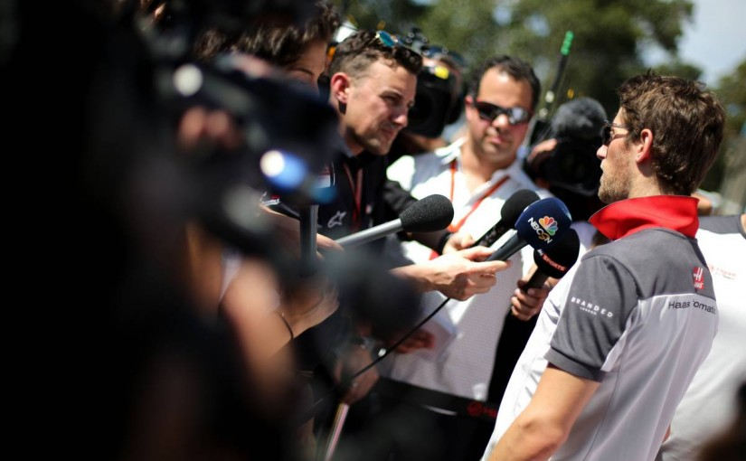 ハースF1のエースとして今シーズンに挑むグロージャン。まずはポイント獲得を目指す。
