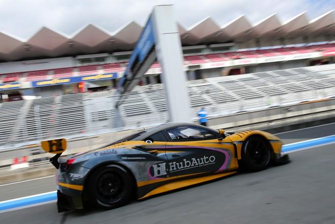 富士で走行したHubAuto Racingのフェラーリ488 GT3