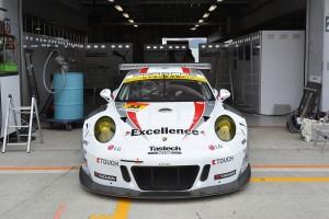 スーパーGT富士公式テスト搬入日のExcellence Porsche