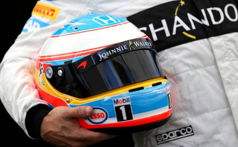 2016年はヘルメットをアライ製に変更したフェルナンド・アロンソ