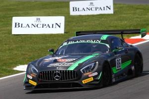 ブランパン・スプリント第2戦 予選レースを制したベルント・シュナイダー/ジュール・シムコウィアク組6号車メルセデスAMG GT3