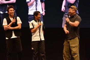エキジビションマッチに臨んだ片山右京監督とケンドーコバヤシさん、中尾明慶さん