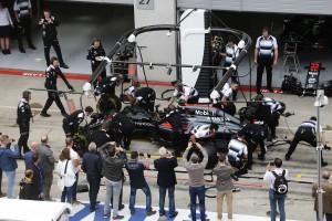 2016年第9戦オーストリアGP フェルナンド・アロンソ(マクラーレン・ホンダ)がリタイア