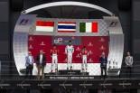GP3第3戦イギリス 決勝レース1 優勝:アレクサンダー・アルボン(ART) 、2位:シャルル・ルクレール(ART) 、アントニオ・フォッコ(トライデント)