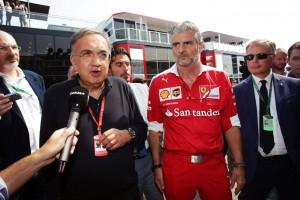 2016年イタリアGP フェラーリのセルジオ・マルキオンネ会長とマウリツィオ・アリバベーネ F1チーム代表