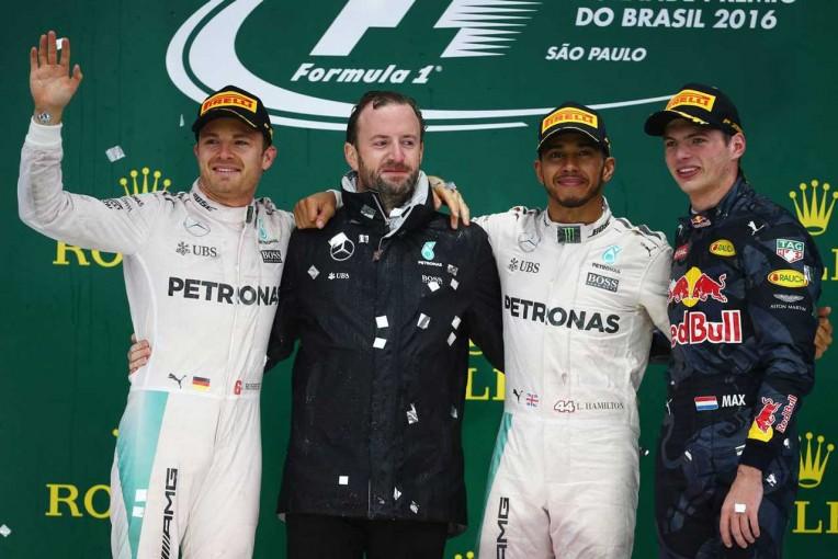 2016年F1第20戦ブラジルGP 表彰式