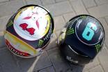 2016年F1第21戦アブダビGP ニコ・ロズベルグ、ルイス・ハミルトンのヘルメット