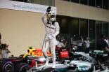 2016年F1第21戦アブダビGP ルイス・ハミルトン(メルセデス)、ポールポジションを獲得