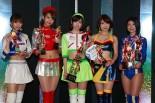モバオク!日本レースクイーン大賞を受賞した林紗久羅さん、早瀬あやさん、清瀬まちさん、藤井みのりさん、藤木由貴さん(左から)