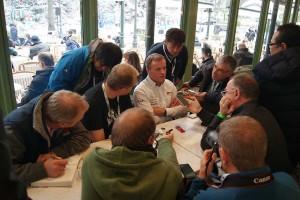 復帰初戦のTOYOTA GAZOO Racing、トミ・マキネン チーム代表には多くの取材陣が