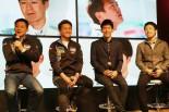 大阪オートメッセのトークショーに出演したLMcorsaのドライバーたち