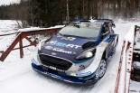 WRC第2戦スウェーデンのSS9で平均時速137キロを記録したオット・タナク(フォード・フィエスタWRC)