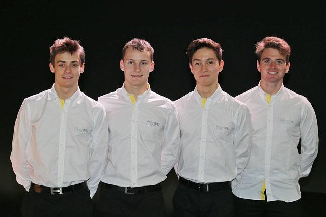 ルノーの育成プログラムに選ばれた(左から)ルイス・デレトラーズ、ケビン・ヨルグ、ジャック・エイトケン、オリバー・ローランド