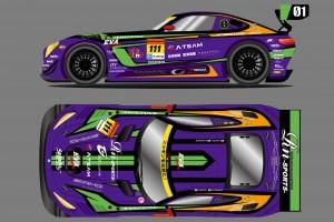 スーパーGT | エヴァ再起動。GT300に初号機カラーのAMG GT3投入