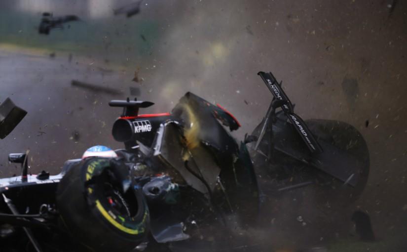 オーストラリアGP決勝でエステバン・グティエレスと接触した、フェルナンド・アロンソ