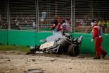 F1 | アロンソ、シャシーもPUも全交換。ホンダ、損傷のひどさに落胆