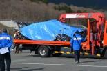 富士スピードウェイでシェイクダウンされたスバルWRX STIだったが、激しくクラッシュしてしまった。