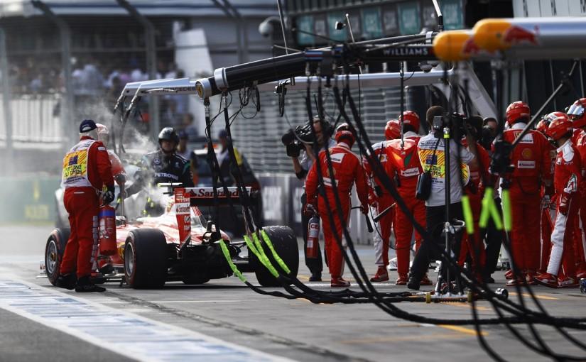 F1 | ライコネン車 出火も、エンジンは再利用可能。フェラーリの素早い対応で