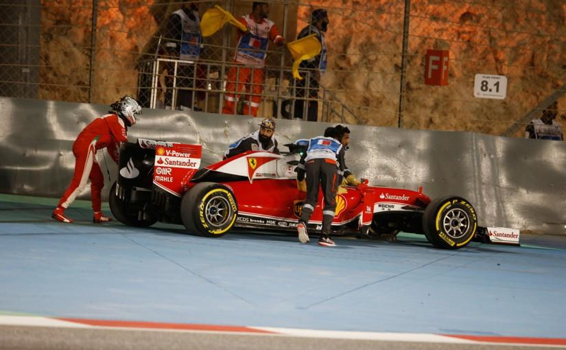 F1 | ベッテル「ホイールトラブルの原因はまだ不明」:フェラーリ バーレーン金曜