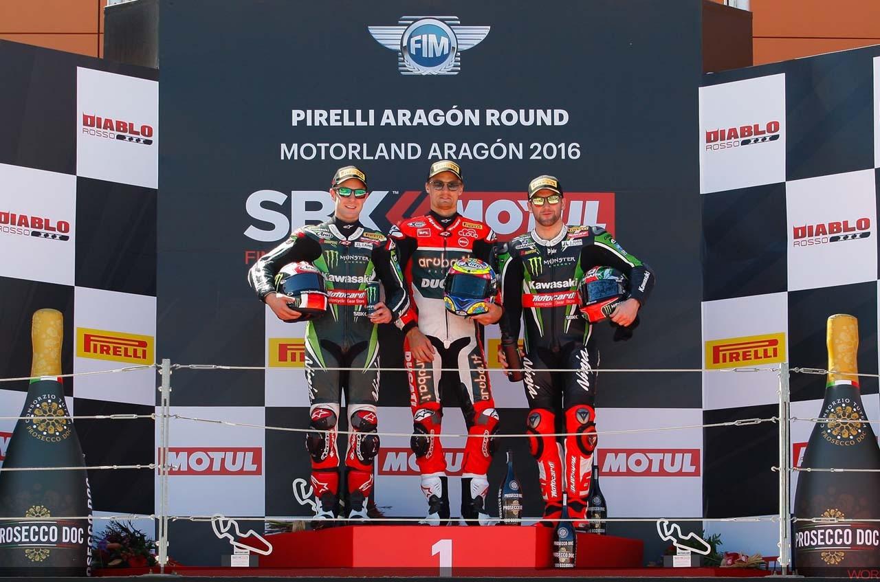 SBK第3戦アラゴン レース1:デイビスが今季初優勝
