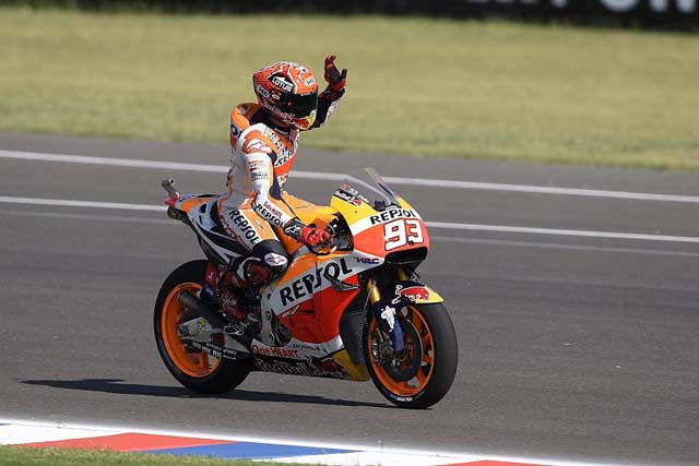 MotoGP第2戦アルゼンチンGP MotoGP予選:マルケスが転倒も今季初のポールポジション獲得