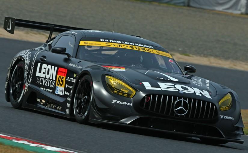 スーパーGT | SGT岡山:決勝日朝のフリー走行は2度の赤旗。GT300は好調LEON AMGがトップタイム