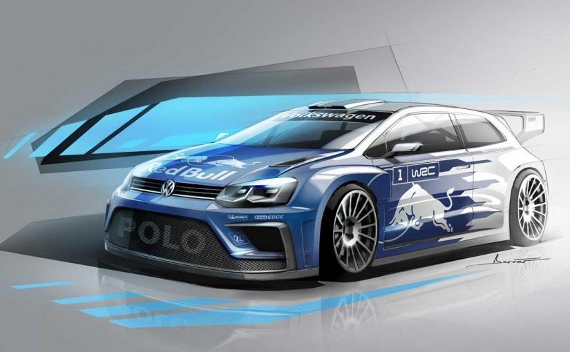 ラリー/WRC | フォルクスワーゲン、2017年型ポロR WRCのイラストイメージ公開