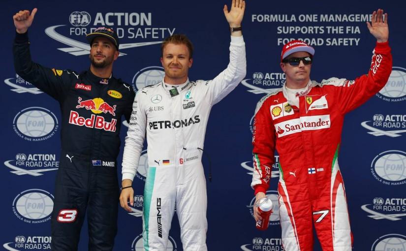 F1   3連勝への最短距離に立ったロズベルグ、王者ハミルトンは最後方と明暗が分かれる