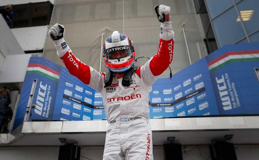海外レース他   WTCCハンガロリンク:ロペスがチームメイトバトルを制し、今季3勝目