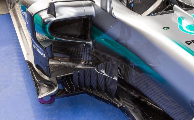 F1 | メカUPDATE:王者メルセデス、ブレーキダクトとバージボードに緻密な改良