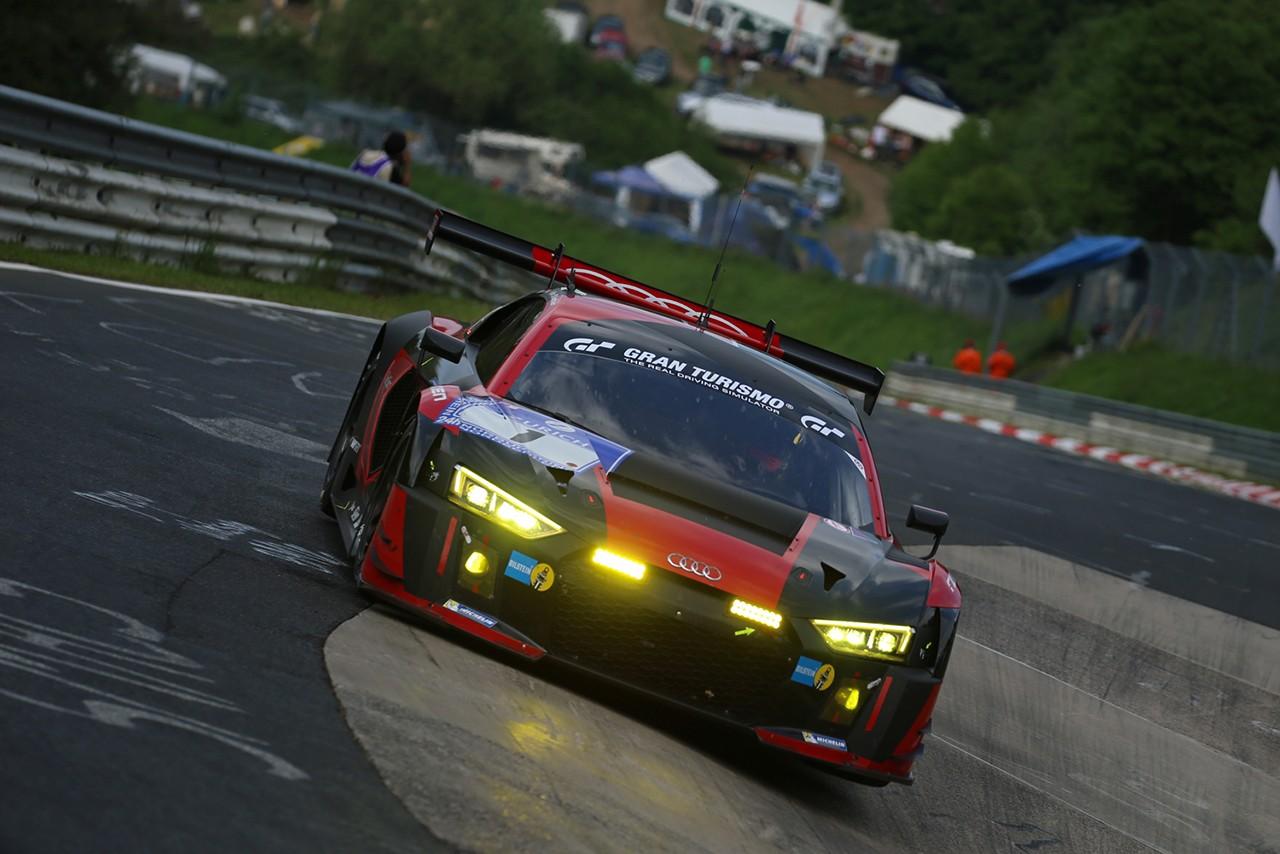 ニュル24時間初日:予選1回目はWRTのアウディR8 LMS 1号車がトップ