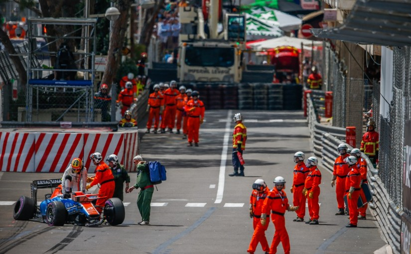 F1   ハリアント「クラッシュし車にダメージ。土曜までには直るはず」:マノー モナコ木曜