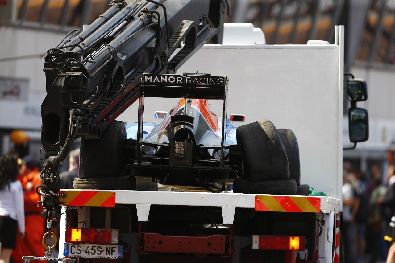 2016年第6戦モナコGP リオ・ハリアント(マノー)がクラッシュ