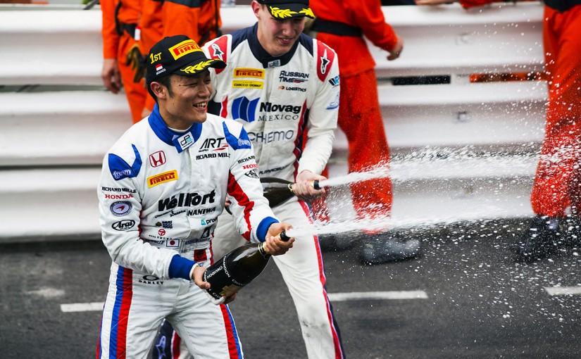 モナコで行われているGP2決勝レース2で日本人として初めてモナコを制した松下信治