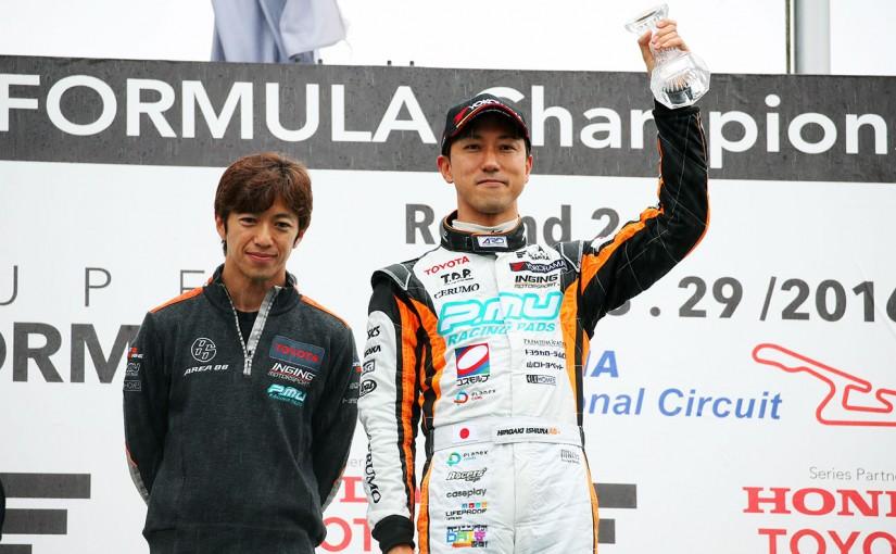 スーパーフォーミュラ | SF第2戦岡山決勝、雨で8周終了。石浦宏明が今季初優勝