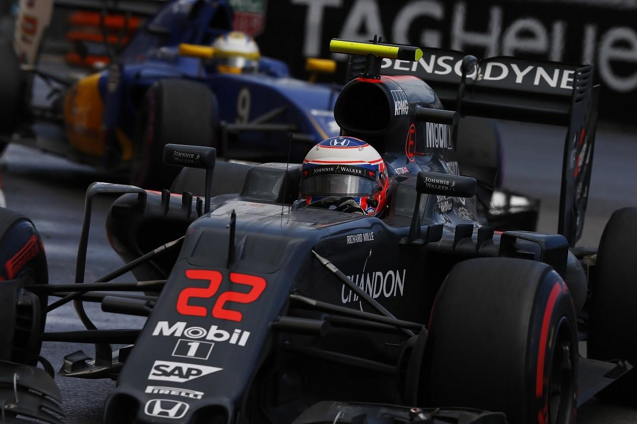 2016年第6戦モナコGP ジェンソン・バトン(マクラーレン・ホンダ)