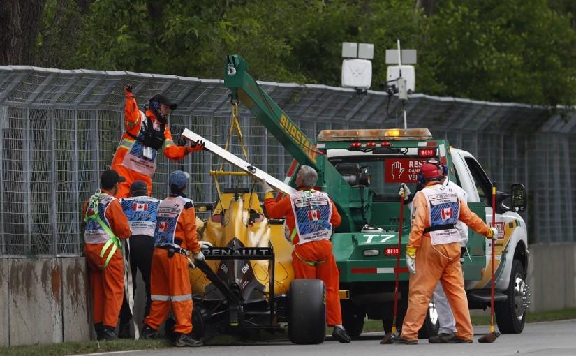 F1 | マグヌッセン「おかしなクラッシュでシャシーが大破」:ルノー カナダ土曜