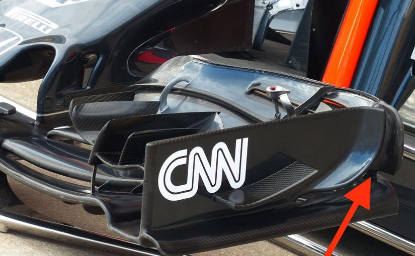 F1 | メカUPDATE:翼端板が変更された、マクラーレンのフロントウイング