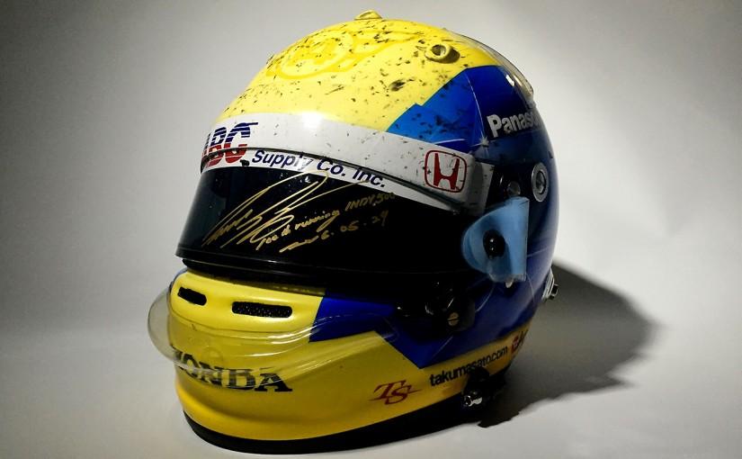 海外レース他 | 佐藤琢磨のインディ500スペシャルヘルメットのチャリティオークション開始