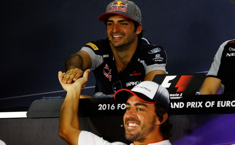 F1 | 「マクラーレン・ホンダ&アロンソに負けない」とサインツ。受けて立つアロンソ