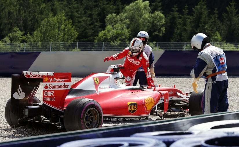 F1   ベッテル「スピンの原因はブレーキ。本当にびっくりした」:フェラーリ オーストリア金曜