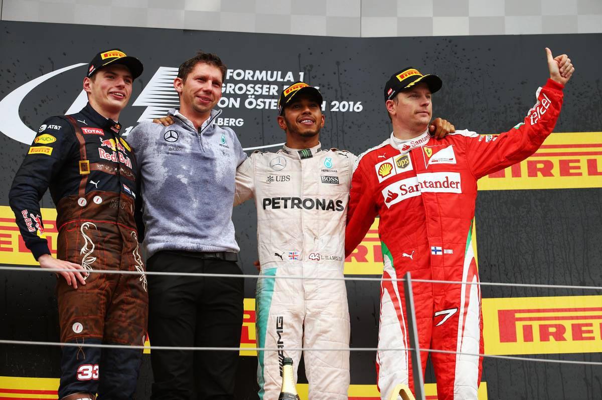F1第9戦オーストリアGP表彰台