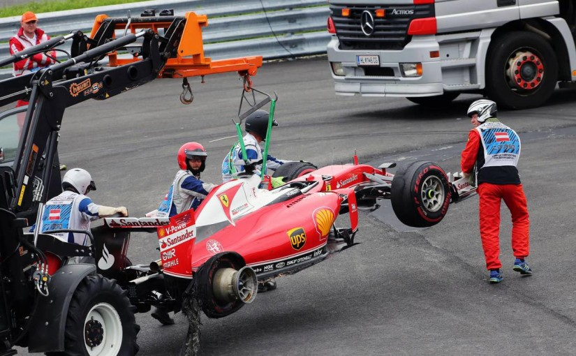 F1 | 動画:ベッテル、タイヤバーストでクラッシュ/F1オーストリアGP決勝
