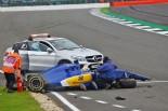 F1   大クラッシュのエリクソン、決勝出場の許可を待つ「衝撃は大きかったが幸いけがはない」:ザウバー イギリス土曜