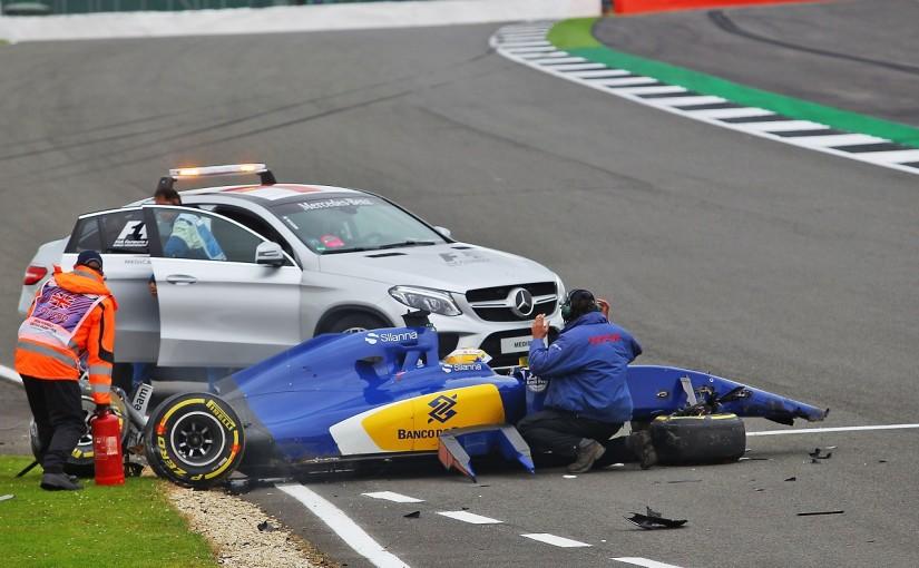 F1 | 大クラッシュのエリクソン、決勝出場の許可を待つ「衝撃は大きかったが幸いけがはない」:ザウバー イギリス土曜