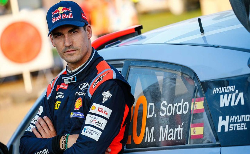 脊椎を骨折し、次戦ラリー・フィンランドの欠場を余儀なくされたダニ・ソルド(ヒュンダイi20 WRC)