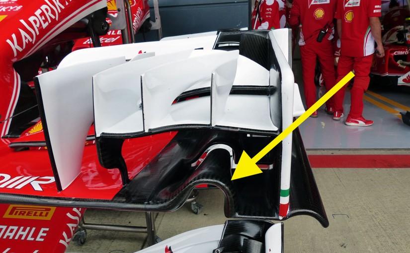 F1 | メカUPDATE:フェラーリ新型フロントウイング投入もベッテルは「この程度では……」