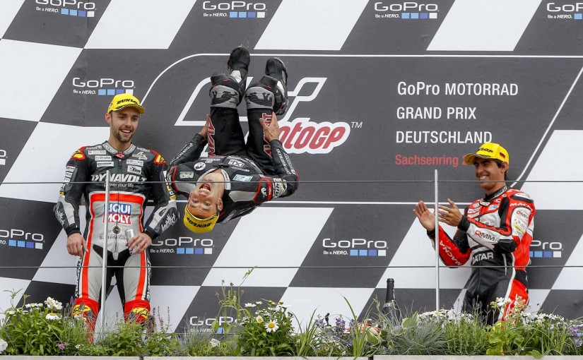 MotoGP | MotoGP第9戦ドイツGP Moto2決勝:ザルコが優勝。中上は転倒もポイント獲得