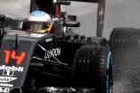 F1 | アロンソ、一時トップタイムでご機嫌「攻めすぎてミスした自分にはがっかりだけど、今日はものすごく速かった」